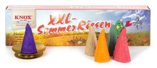 5 H: 4,7cm NEU Duftkegel Räucherkegel Räucherkerzen KNOX XXL-Sommerriesen