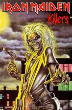 OFFICIAL LICENSED - IRON MAIDEN - KILLERS TEXTILE POSTER FLAG METAL EDDIE