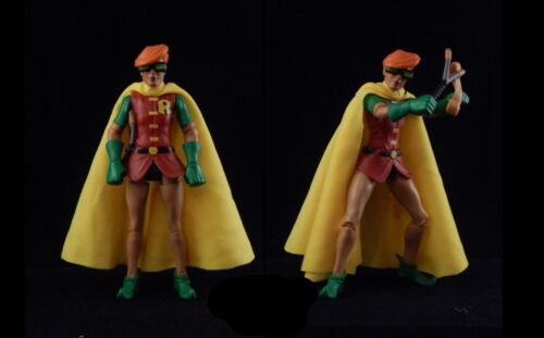 Custom Dc Collectibles Marvel Legends Robin Carrie Kelley Cloth Cape Yellow