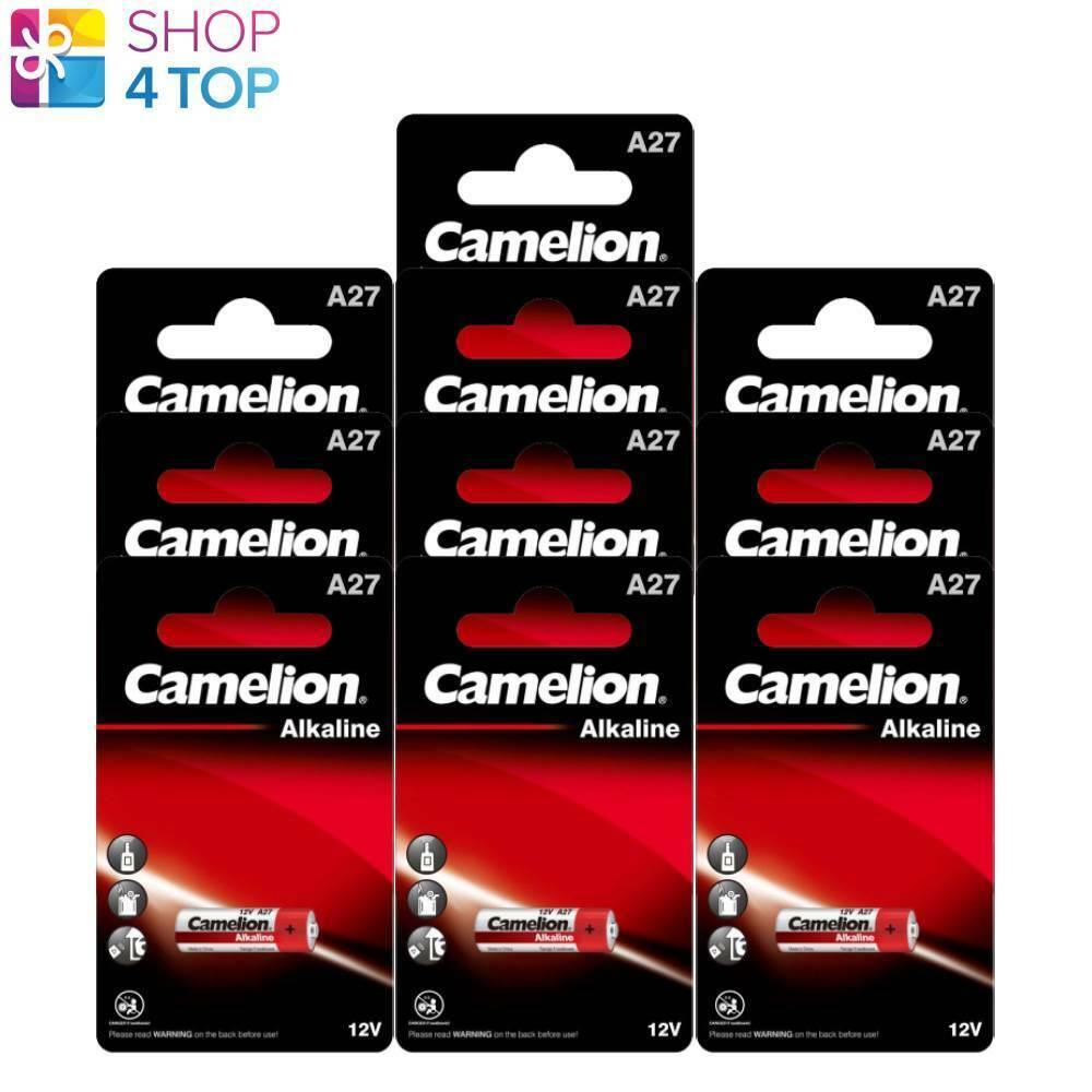 10 Camelion A27 Alkaline Batteries LR27A MN27 12V No Mercury 16mAh 1BL 2024 New