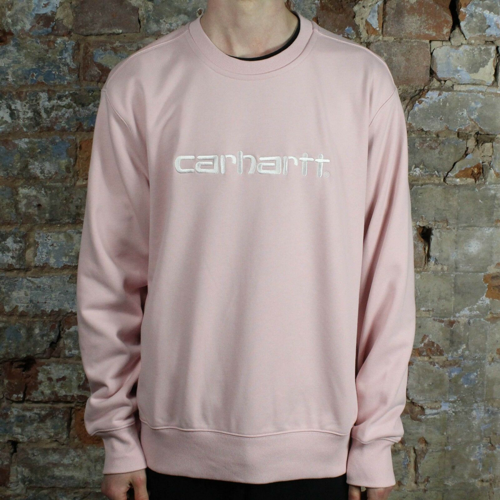 Carhartt Big Script Sweat – Dusty Rosa – in Größes M,L    | Flagship-Store