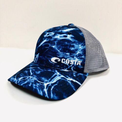 COSTA DEL MAR HAT CAP NEW 2019 MOSSY OAK ELEMENTS TRUCKER WATER CAMO BLUE