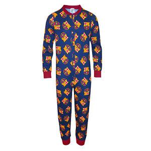La imagen se está cargando FC-Barcelona-Pijama-de-una-pieza-para-ninos- ae0fe2b0c24