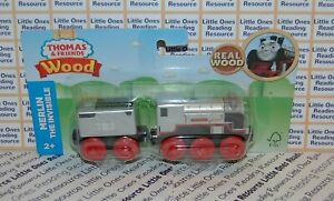 Thomas-Friends-Wood-Wooden-MERLIN-Train-FULLY-PAINTED-Fisher-Price-GGG66