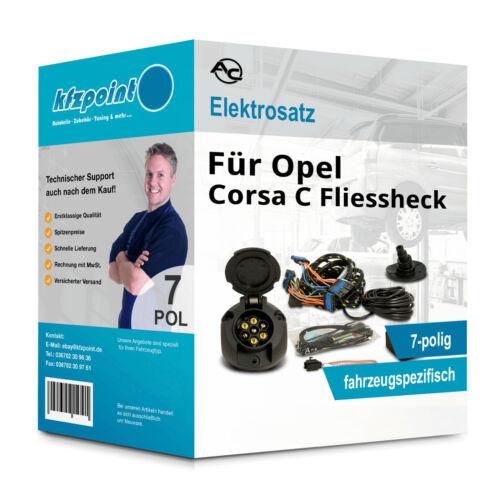 Corsa C Fliessheck 09.00-10.06 AC E-Satz 7polig fahrzeugspezifisch incl manual