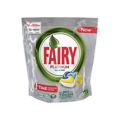 Fairy Lavavajillas Tabs Platinum Todo en 1 Limón (18+18 cápsulas)
