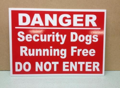 Chiens de Sécurité Danger exécutant libre. ne pas entrer panneau d'avertissement en plastique. (DL-20)