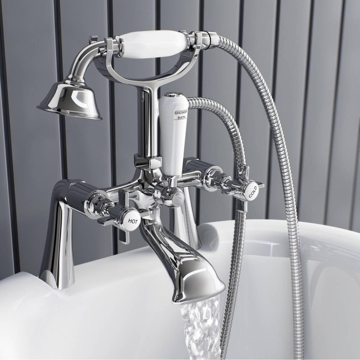 Victorian Traditional Bathroom Bath Shower Filler Mixer