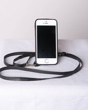 Crossbody Cell Case for iPhone 5 & 5S , wallet, purse, adjustable strap Black