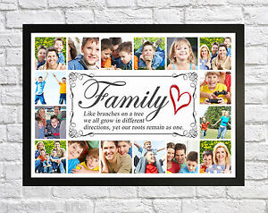family tree photo picture collage montage framed print