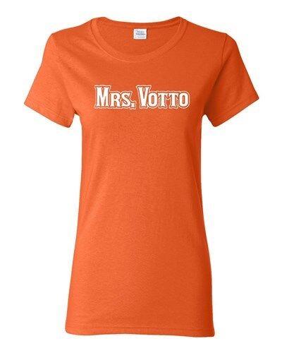 Ladies Mrs Votto Fan Wear Cincinnati Softball Sports Ball Homerun T-Shirt Tee