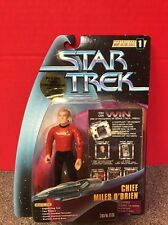 Star Trek Chief Miles O'Brien Action Figure Warp Factor Series 1 Playmates 1997
