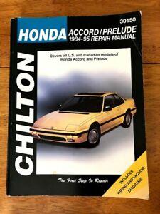 Chilton Repair Manual Honda Accord Prelude 1984 95 Wiring Vacuum Diagrams Ebay