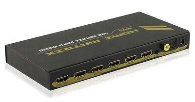 4x2 HDMI 1.4 Matrix Switch Splitter Selector SPDIF Audio Extractor 4K2K 3D 1080P