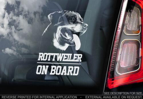 Car Window Sticker Rottweiler TYP1 Rottie Dog on Board Guard Sign