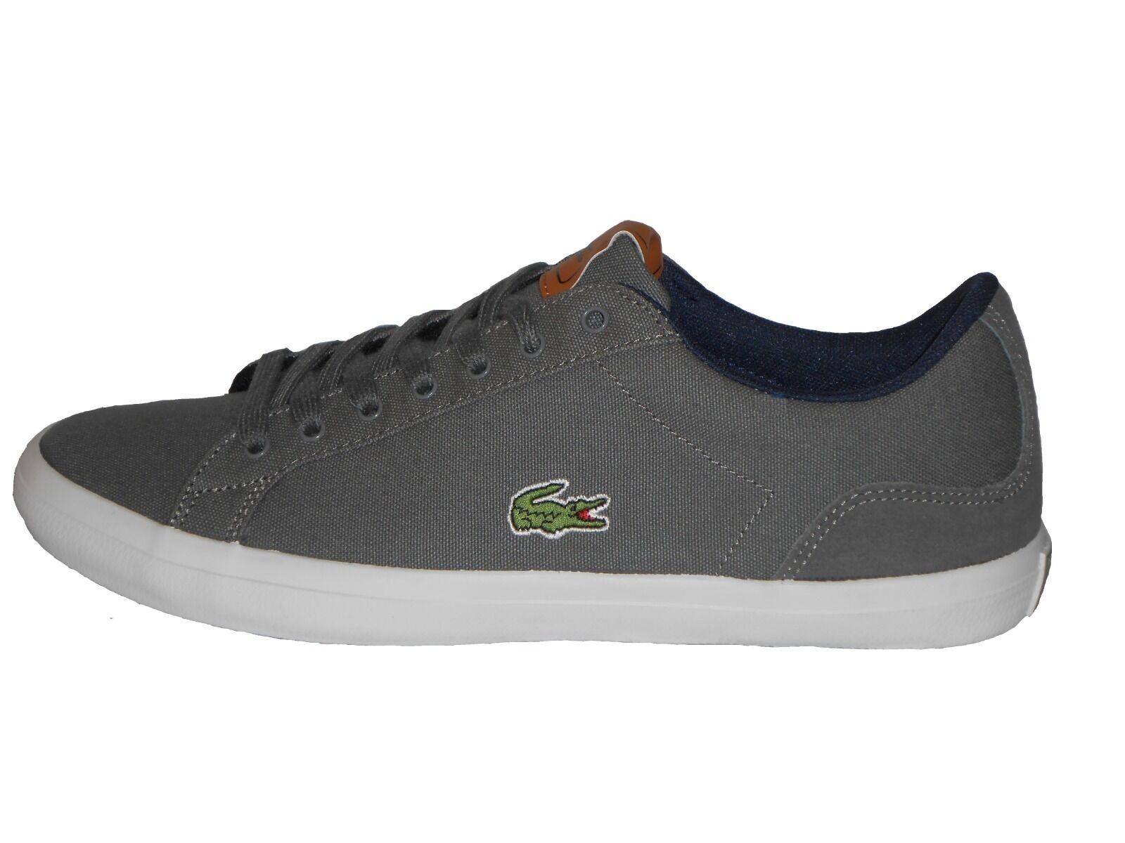 Lacoste Lerond S316 1 SPM Para hombre Zapatilla Zapato Gris Oscuro Talla 6   70/- Nuevo