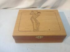 Vintage House of Windsor  Palms 50  Cigar Golf  Wood Gift Box dove tail corners