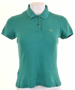 LACOSTE-Womens-Polo-Shirt-Size-40-Medium-Green-Cotton-GD11