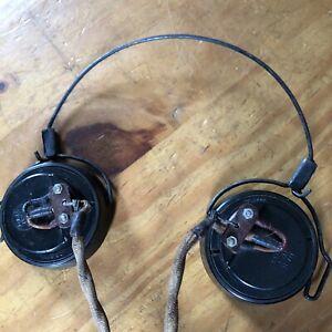 DLR No.5 HEADSET HEADPHONES MILITARY RADIO Wireless Radio Headphones Army WW2