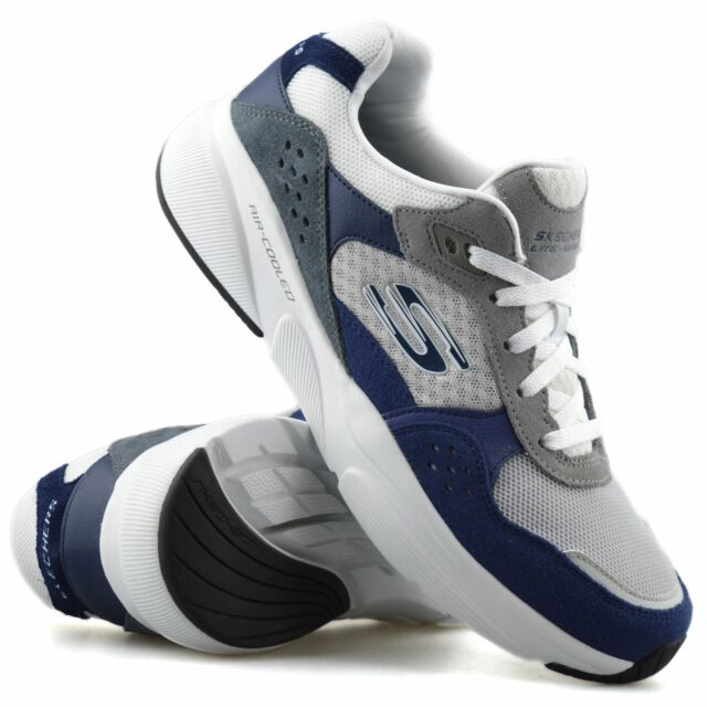 vela puerta Sentimiento de culpa  Mens Skechers Arcade II Circulate Suede Memory Foam Trainers Navy Black 8  for sale | eBay