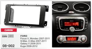 20080 2-din radio diafragma para Ford Focus II Mondeo C-Max 2007-2011; Galax S-Max
