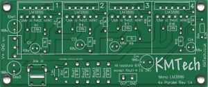 Connect-up-to-4x-LM3886-ICs-in-Parallel-Chipamp-Gainclone-PCB-only-DIY