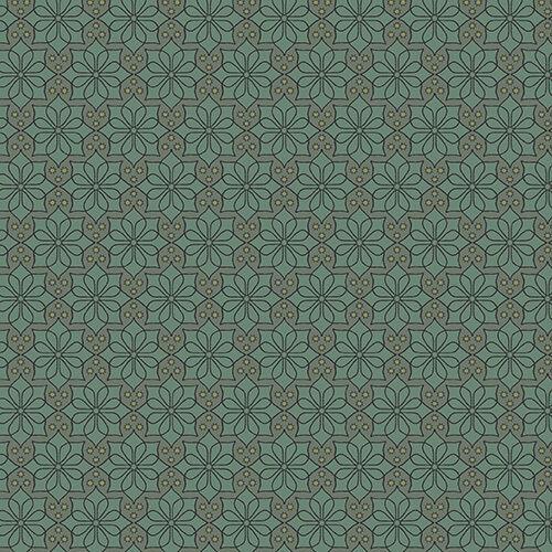 Fat Quarters Verde Flor De Tela 100/% algodón Andover Fabrics 7486 Verde