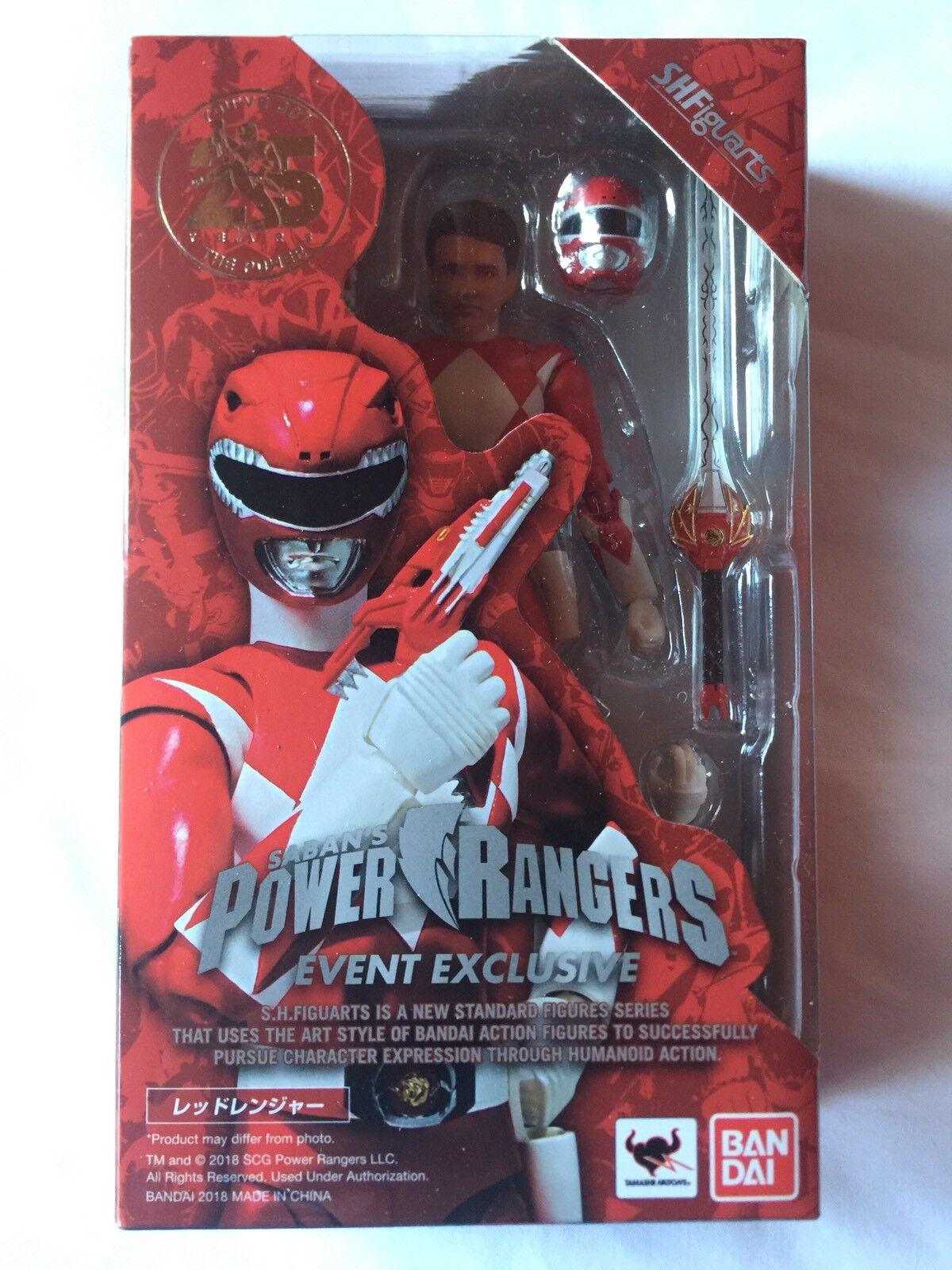 SDCC 2018 MMPR Power Rangers S.H. Figuarts ROT Ranger Figure NEW & MISB Tamashii