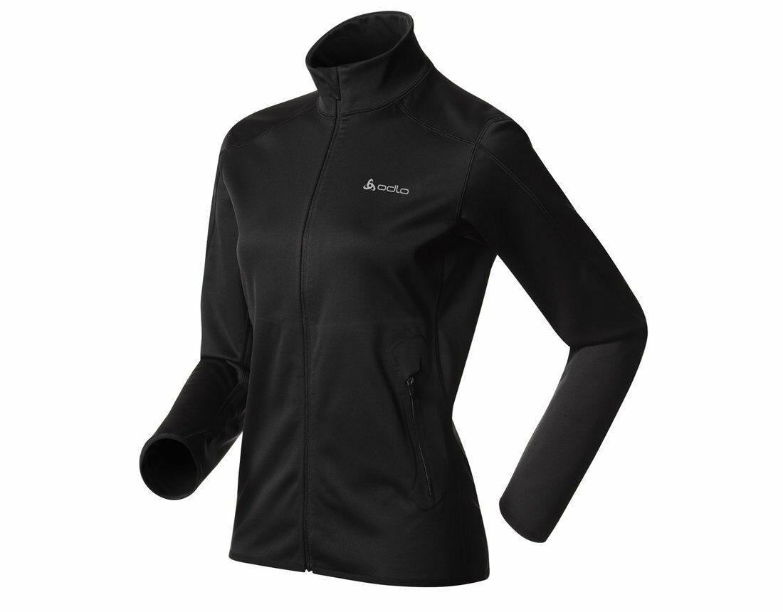 ODLO 3l Sequence Donna Softshell Giacca Giacca Corsa Nero Taglie XS S M L XL Nuovo