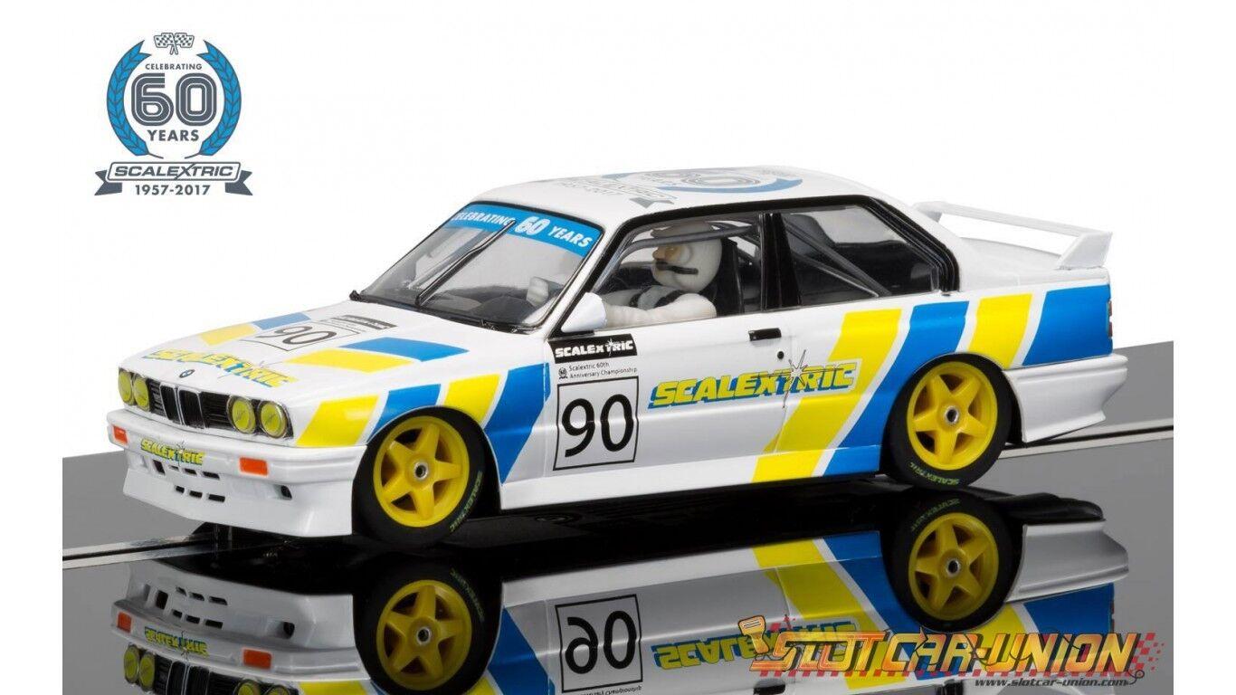 Scalextric C3829A BMW E30 M3 Slot Car 1 32 60th Anniversary NEW IN BOX