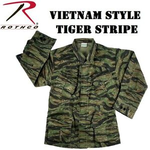 c7711c8d44b69 Tiger Stripe Camo Vintage Military Rip-Stop Vietnam Era BDU Fatigue ...