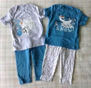 b0dc0d236c 2Pk Disney Frozen Olaf Pyjamas PJ s Nightwear Sleepwear ~ Unisex ...