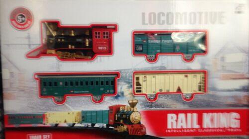 light /& sound fumée taille énorme cadeau de Noël Classic Toy ferroviaire train track set w
