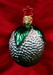 "VINTAGE OLD WORLD CHRISTMAS ORNAMENT - FRUIT 2 1/2"""