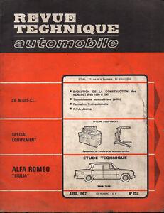 Frugal Rta Revue Technique Automobile N° 252 Alfa Romeo Giulia 1967