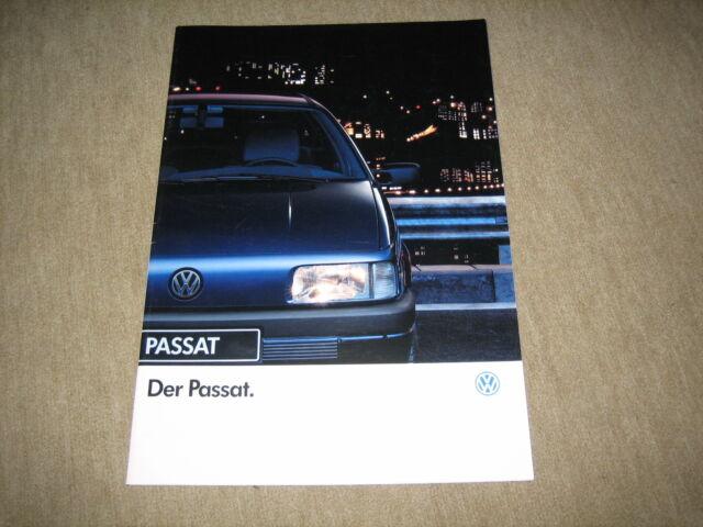 VW Passat Limousine Prospekt Brochure von 1/1991, 48 Seiten