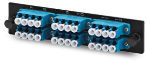24 Port LCUPC Fiber Adapter Panel Holds QUAD Singlemode LC Adapters LGX Style 6