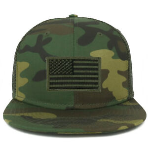 Details about Oversize XXL Olive USA Flag Patch Camouflage Flatbill Mesh  Snapback Cap 27a12b498d2