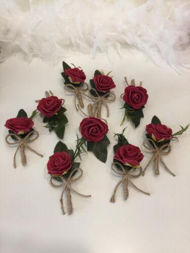 Blumen Anstecker Nadel Bräutigam Hochzeit Yaka Ignesi Cicegi Dügün Damat Rot