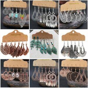 Boho-Gypsy-Earrings-Tribal-Ethnic-Festival-Tassel-Ear-Hook-Drop-Dangle-Jewellery