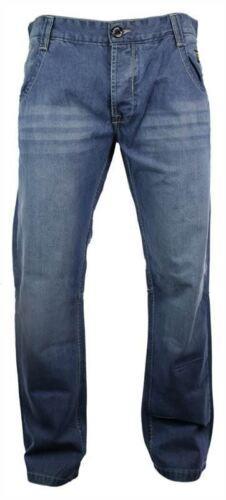 Homme Bleu Clair Délavé Ceinture dorsale 96 style jeans coupe droite Smart Casual