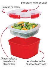 3Sistema 2.4 Litre Medium Microwave Steamer Vegetable Rice Food Dishwasher Safe