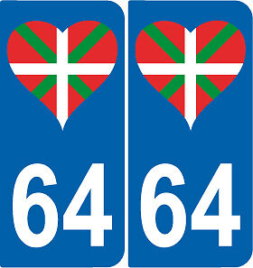 2-autocollants-style-immatriculation-auto-Departement-64-Pays-Basque-coeur