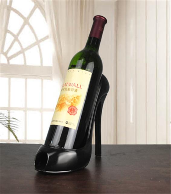 Heel Shoe Shape Wine Bottle Holder Creative Shelf Rack Bar Accessory