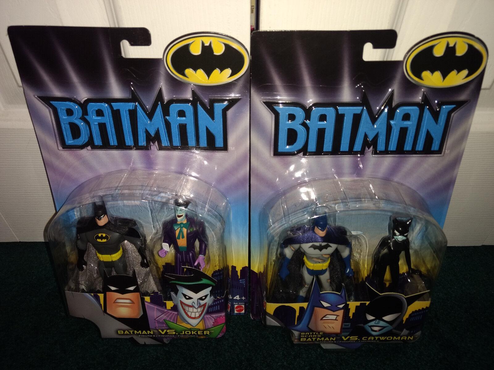 Batman joker + kampfnarben batman catwoman batman animierte dc mattel 2002 misp