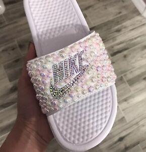 60180b80f4ca2 Details about Custom Nike Benassi Slides