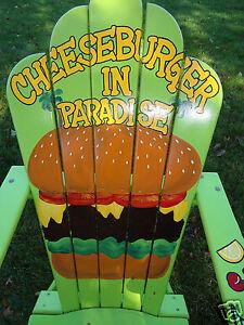 Rare Jimmy Buffett Cheeseburger In Paradise Hand Painted