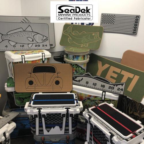 Marine EVA Mat SeaDek Pad fits RTIC Cooler Teak DarkGray//StormGray