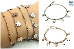 Bracciale-donna-in-acciaio-inox-con-quadrifoglio-portafortuna-braccialetto-da