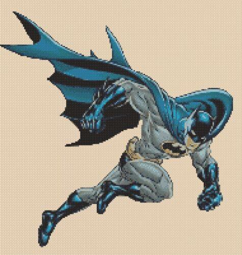 Cross stitch chart  Batman Flowerpower37-uk..free uk P/&p